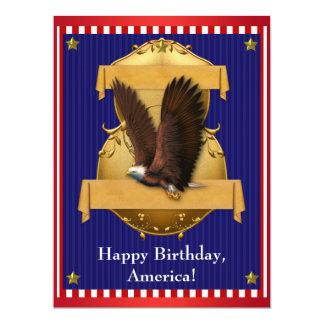 Eagle calvo azul blanco rojo patriótico el 4 de