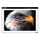 Eagle calvo - bandera de los E.E.U.U. Calcomanías Para 43,2cm Portátiles
