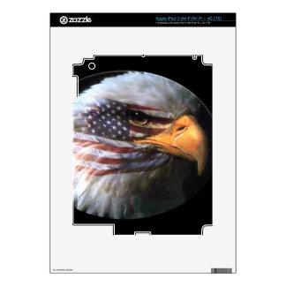 Eagle calvo - bandera de los E.E.U.U. Pegatina Skin Para iPad 3