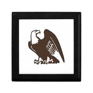 Eagle calvo caja de joyas