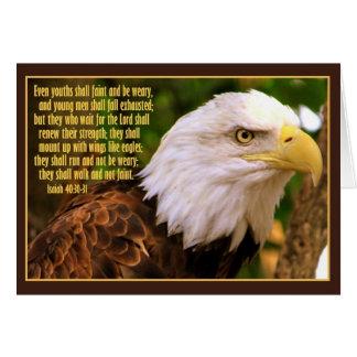 Eagle calvo con el 40:30 de Isaías - 31 Tarjetón