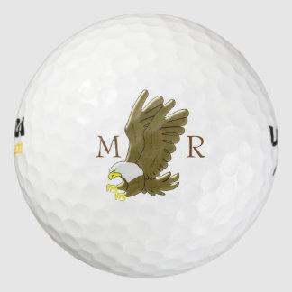 Eagle calvo con monograma pack de pelotas de golf