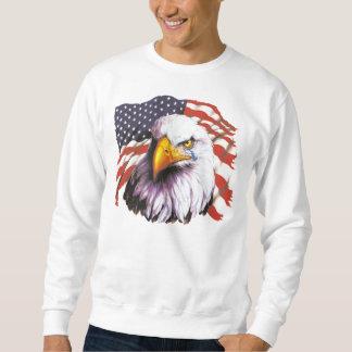 Eagle calvo con un rasgón - bandera de los suéter