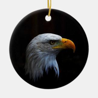 Eagle calvo copy.jpg adorno navideño redondo de cerámica