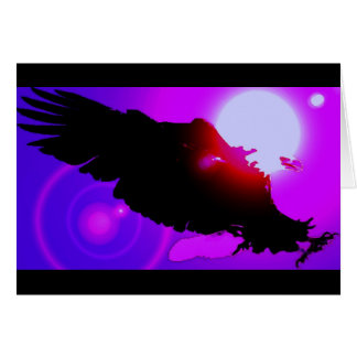 Eagle calvo de aterrizaje tarjeta de felicitación