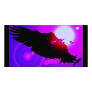 Eagle calvo de aterrizaje tarjetas fotograficas personalizadas