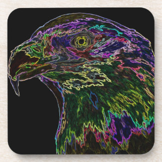 Eagle calvo de neón 2 posavasos