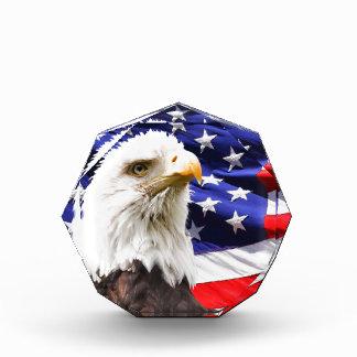 Eagle calvo delante del americano Flg