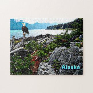 Eagle calvo en la costa de Alaska Rompecabeza Con Fotos