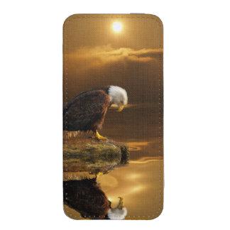Eagle calvo en la fauna de Birdlover del rezo y de Funda Para iPhone 5