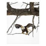 Eagle calvo en vuelo membrete personalizado