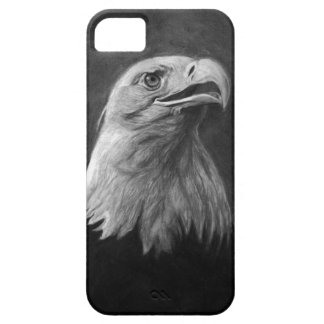 Eagle calvo, grafito dibujado mano iPhone 5 funda