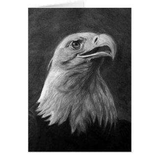 Eagle calvo grafito dibujado mano tarjeton