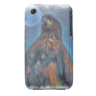 Eagle calvo joven real y pintura de la luna Case-Mate iPhone 3 funda