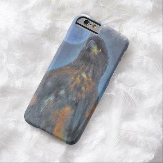 Eagle calvo joven real y pintura de la luna funda de iPhone 6 barely there