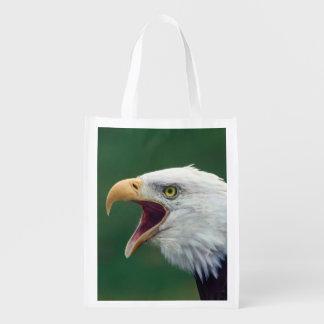 Eagle calvo (leucocephalus del Haliaeetus) Bolsa Reutilizable