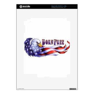 Eagle calvo libre nacido y bandera de los E.E.U.U. iPad 2 Skins