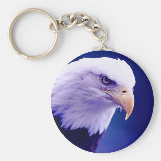 Eagle calvo llavero redondo tipo pin
