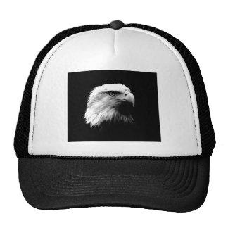 Eagle calvo negro y blanco gorra