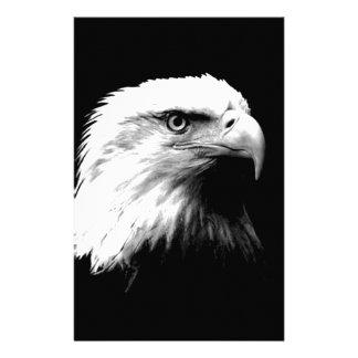 Eagle calvo negro y blanco papeleria de diseño