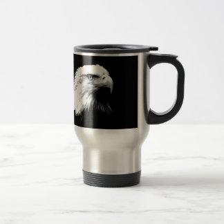 Eagle calvo negro y blanco tazas de café