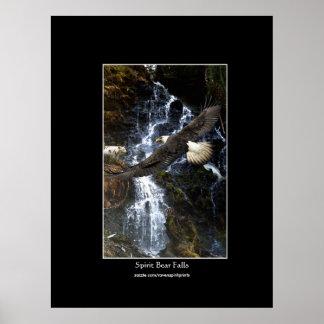 Eagle calvo, oso del alcohol y poster del arte de