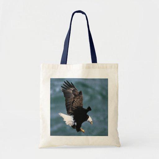 Eagle calvo - pájaro nacional de los Estados Unido Bolsa Lienzo