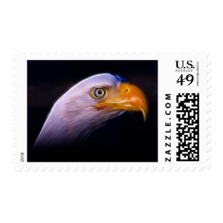 Eagle calvo patriótico americano, símbolo nacional timbres postales