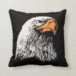 Eagle calvo patriótico cojines