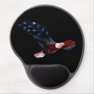 Eagle calvo patriótico Mousepad Alfombrilla Con Gel