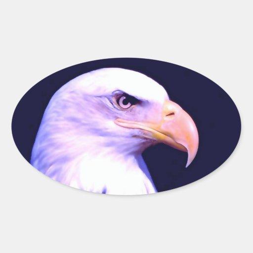 Eagle calvo pegatinas de oval personalizadas