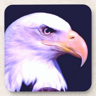 Eagle calvo posavasos de bebida