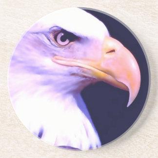 Eagle calvo posavasos diseño