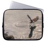 Eagle calvo que aterriza en la foto de la fauna de