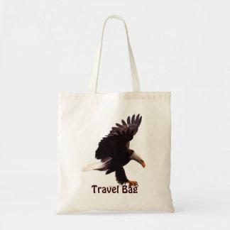 EAGLE CALVO que aterriza viaje lleva el bolso
