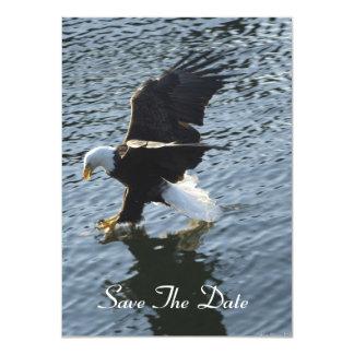 """Eagle calvo que pesca en las tarjetas de la invitación 4.5"""" x 6.25"""""""