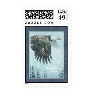 Eagle calvo que pinta el sello - personalizable