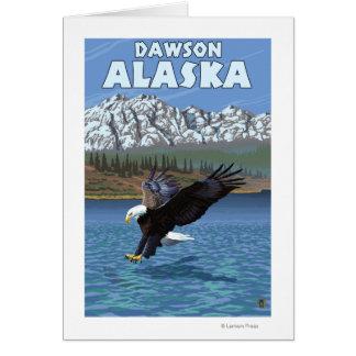 Eagle calvo que se zambulle - Dawson, Alaska Tarjetas