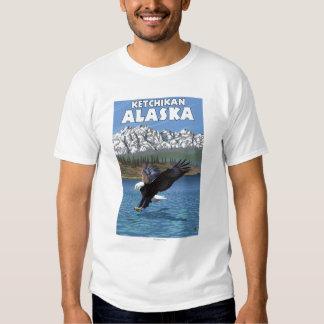 Eagle calvo que se zambulle - Ketchikan, Alaska Playera