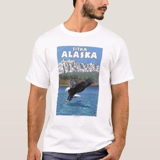 Eagle calvo que se zambulle - Sitka, Alaska Playera