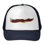 Eagle calvo que vuela gorras de camionero