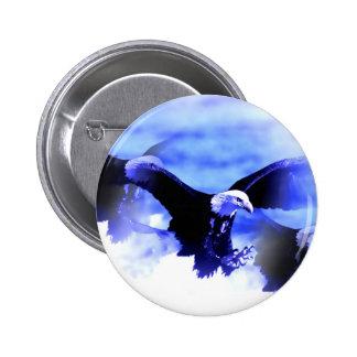 Eagle calvo que vuela pin