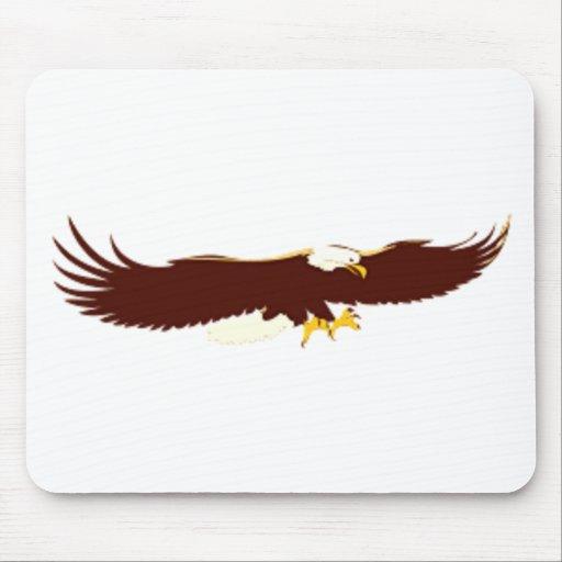 Eagle calvo que vuela tapete de ratón