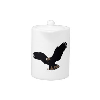 Eagle calvo que vuela