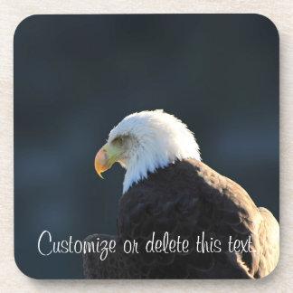 Eagle calvo solitario; Personalizable Posavasos De Bebida