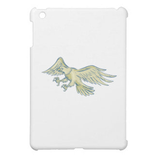 Eagle calvo Swooping la aguafuerte