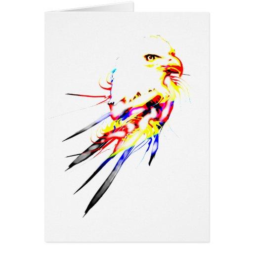 Eagle calvo tarjeta de felicitación