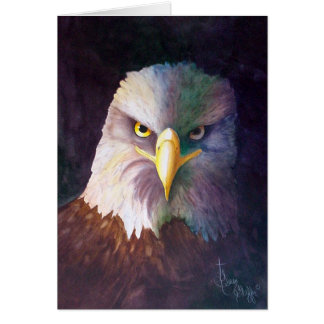 Eagle calvo tarjeta pequeña