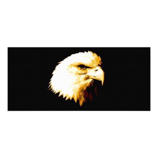 Eagle calvo tarjeta publicitaria a todo color
