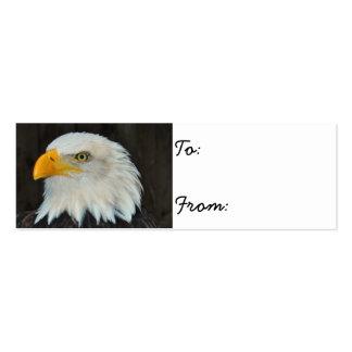 Eagle calvo tarjetas de visita mini